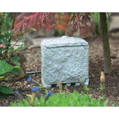 Gartensteckdose Mit Zeitschaltuhr 2fach Steingrau