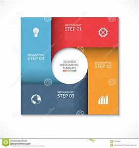 Round Flow Chart Infographics Scheme  Cartoon Vector