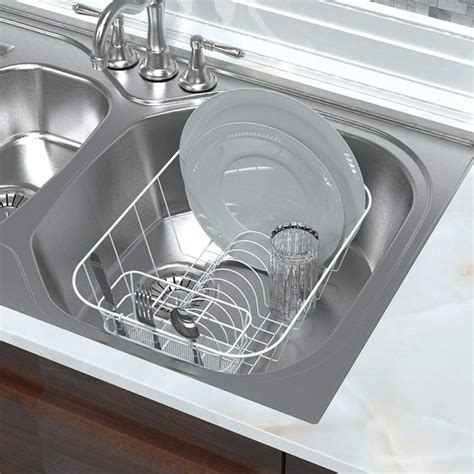 sink dish drying rack small compact drainer