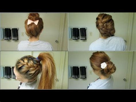 easy hairstyles on the go 10 easy hairstyles for school
