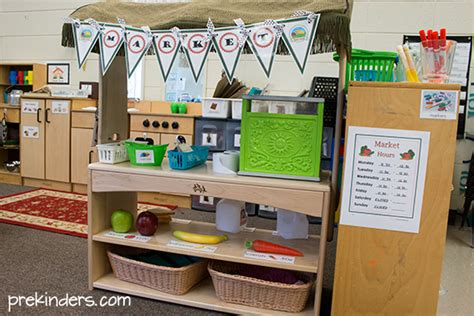 grocery store dramatic play center prekinders
