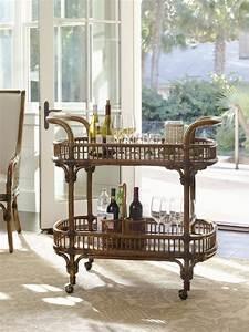 Tommy bahama home bali hai veranda bar cart tropical for Tropical home bar furniture
