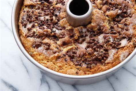Chocolate also makes anything better. Sour Cream Chocolate Chip Coffee Cake   Love and Olive Oil