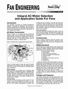Integral Ac Motor Selection And Application Guide For Fans