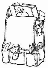 Coloring Bag Kindergarten sketch template