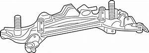 Mercury Milan Suspension Subframe Crossmember  Rear