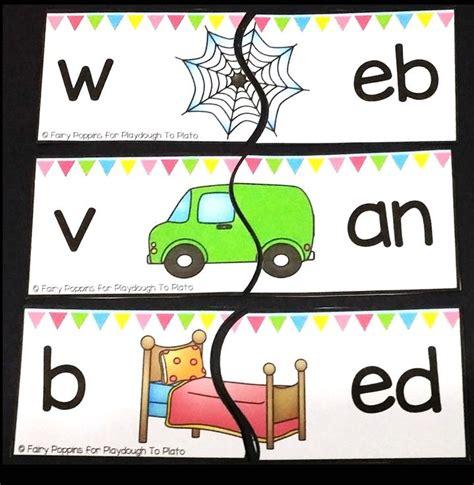 cvc onset rime puzzles  images kindergarten