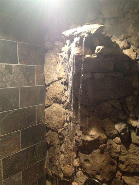 waterfall shower slate  limestone bathtub shower