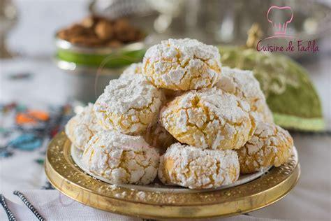 ghriba noix de coco semoule cuisine de fadila