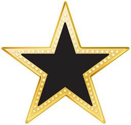 Black and Gold Stars Clip Art