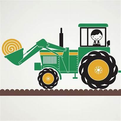 Tractor Deere John Clip Clipart Hay Cliparts