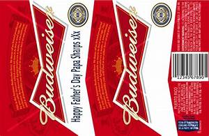 beer can label wrap printable bing images With custom budweiser label