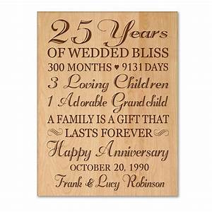 personalized 25th anniversary gift for him25th wedding With 25th wedding anniversary gifts for him