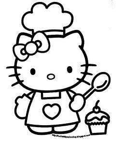 Hello Kitty Cupcake Cartoon - ClipArt Best