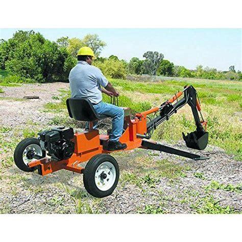 portable backhoe plans diy track hoe excavator garden digger build   welding projects