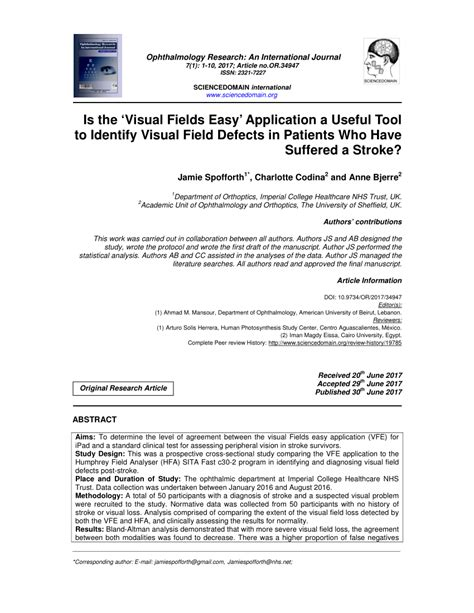 Easy Application by Pdf Is The Visual Fields Easy Application A Useful