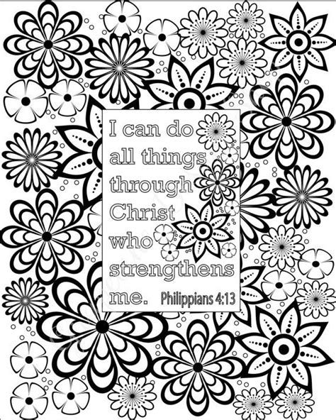 flower coloring pages bible verse coloring sheets set