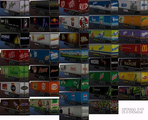 pack cuisine food drink trailers pack by vgskins ets 2 mods