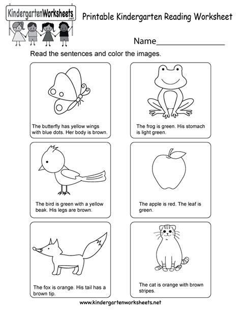 printables  reading worksheets  preschool