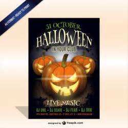 Free Halloween Dance Flyer Templates by Printable Halloween Party Poster Template Vector Free