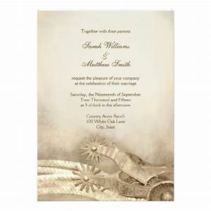 Rustic country western wedding invitations zazzle for Free wedding invitation samples zazzle