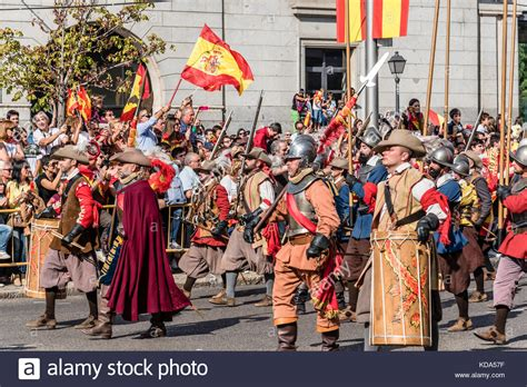 Madrid, Spain  October 12, 2017 Soldiers Of Old Spanish