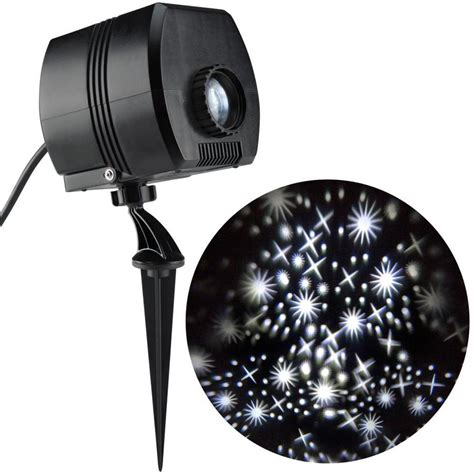holiday light projector lowes shop disney lightshow twinkling white led fairy dust