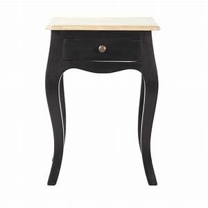 Table En Manguier : table de chevet avec tiroir en manguier noire l 42 cm versailles maisons du monde ~ Teatrodelosmanantiales.com Idées de Décoration