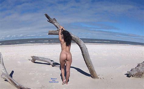 Sexy Brunette Naked At Beach June Voyeur Web