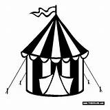 Coloring Polyvore Tent Circus sketch template