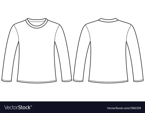 Sleeve Shirt Template Sleeve T Shirt Template Vector Free Choice Image