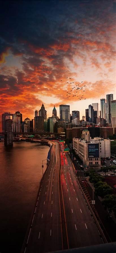 Iphone Manhattan Bridge Sunset Wallpapers