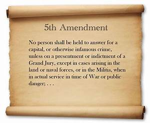Constitution of the United States Amendment 5, The Bill of ...