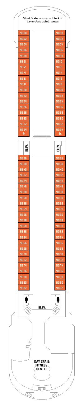 Majesty Of The Seas Deck Plan 10 by International Cruise Majesty Of The Seas Deck Plan