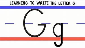 Write The Letter G - Abc Writing For Kids