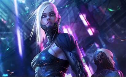 Cyberpunk 4k Sci Fi Wallpapers Woman Cyborg