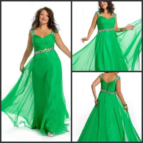 Fast shipping Fashion Cap sleeve Beaded Emerald green plus ...