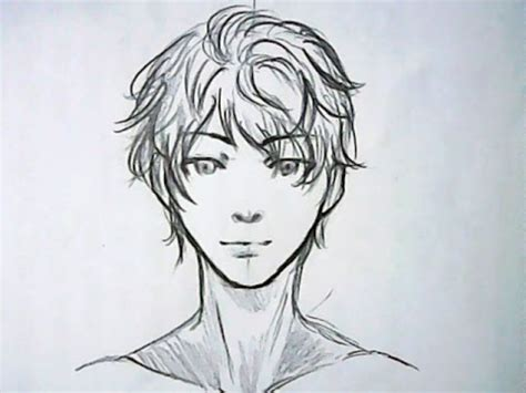 anime boy hair drawing  getdrawings