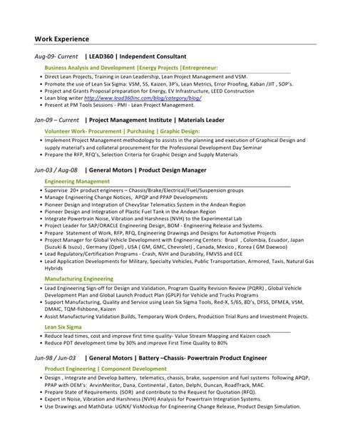 Developing A Functional Resume by Resume Functional Automotive