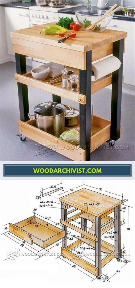 kitchen cart plans furniture plans  projects