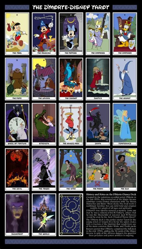 magical kingdom  disney tarot cards neatorama