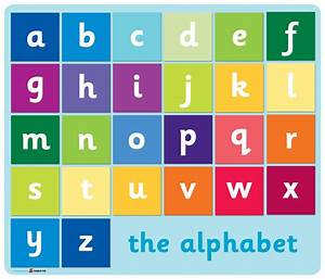 alphabets With letters and signs