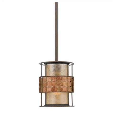 rustic design mini ceiling pendant with mosaic tile shade