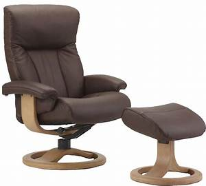 fjords scandic ergonomic leather recliner chair ottoman With ergo recliners