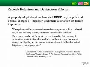 records retention and destruction policies 2015 With documents management policy