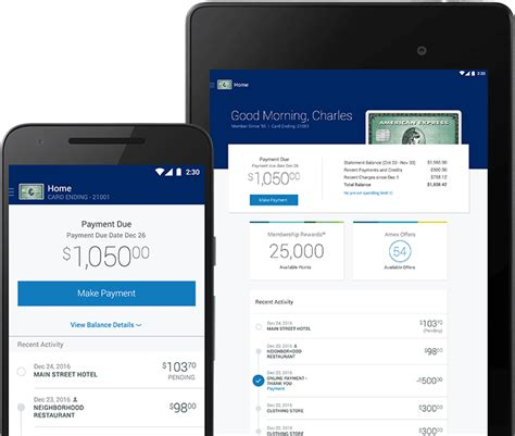 mobile app for android amex mobile app by american express