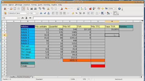logiciel creation cuisine tuto débutant tableur open office calc