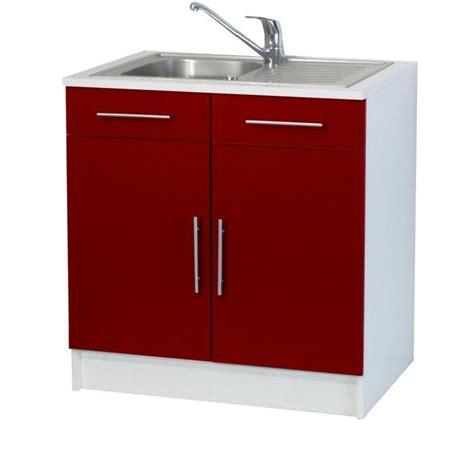 meuble cuisine evier trendy 8 meuble sous évier 2 portes l80 cm achat