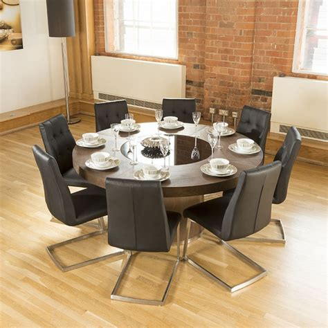large round table luxury large round elm dining table lazy susan 8 chairs