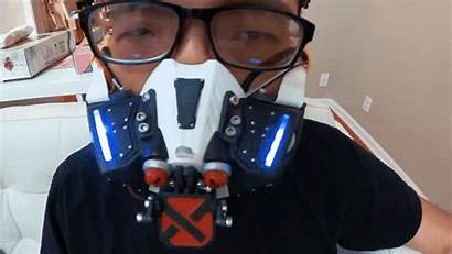 Mask Face Bane Closes Turns Into Robotic